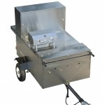 hot dog cart with grill