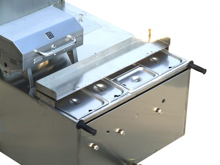 hot dog cart steam table