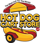 Hot Dog Cart Store Logo