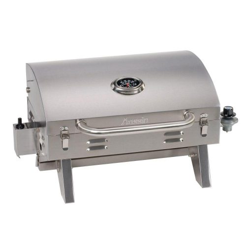 PORTABLE STAINLESS SUITCASE LP GAS CHAR GRILL