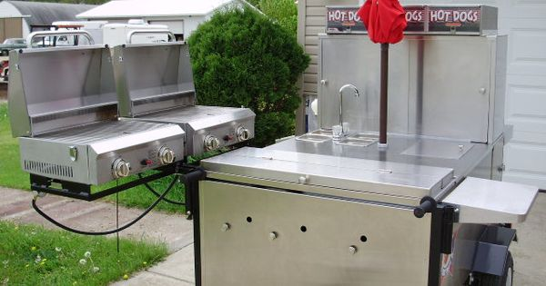 stainless steel suitcase lp gas grill